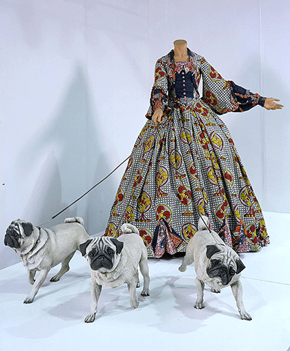 Leisure Lady With Pugs 2001 Yinka Shonibare MBE