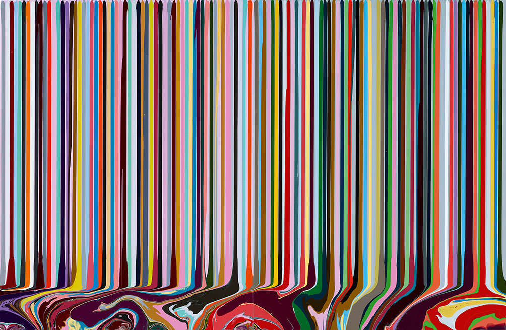 Puddle Painting Pale Lilacgrey 2010 Ian Davenport All Rights Reserved Dacsartimage 2018