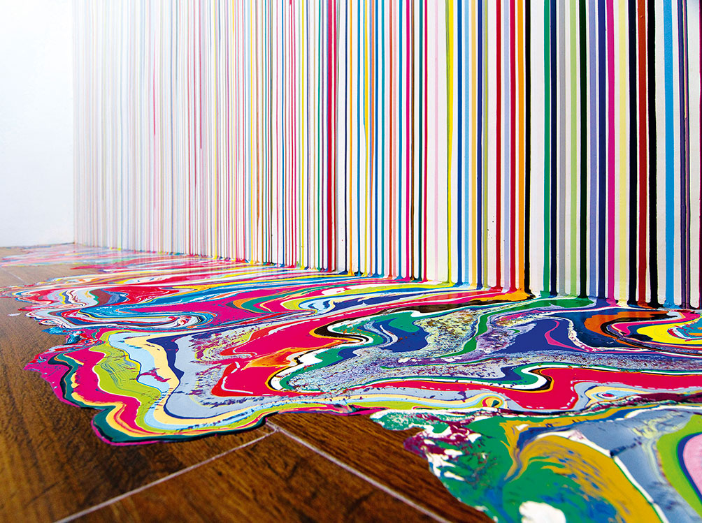 Guidi Gallery Wall Painting 2012 Ian Davenport All Rights Reserved Dacsartimage 2018 Photo Giorgio Benni